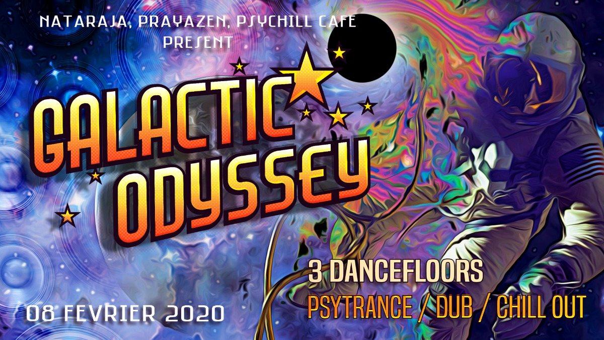 Party Flyer Galactic Odyssey 8 Feb '20, 22:00