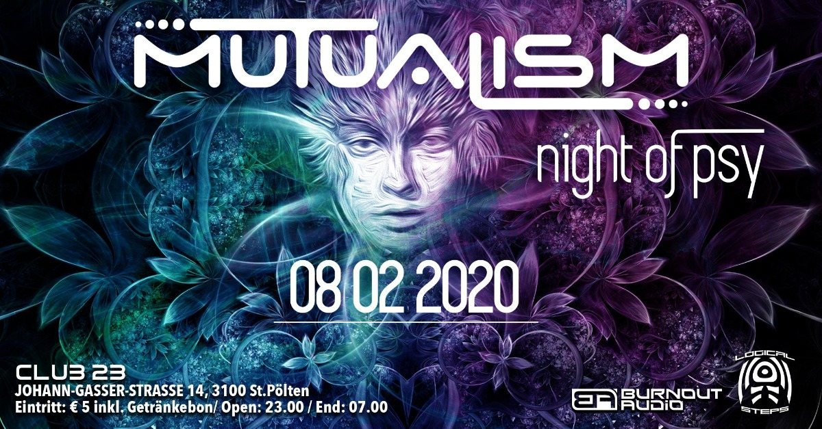 Party Flyer MUTUALISM 8 Feb '20, 23:00