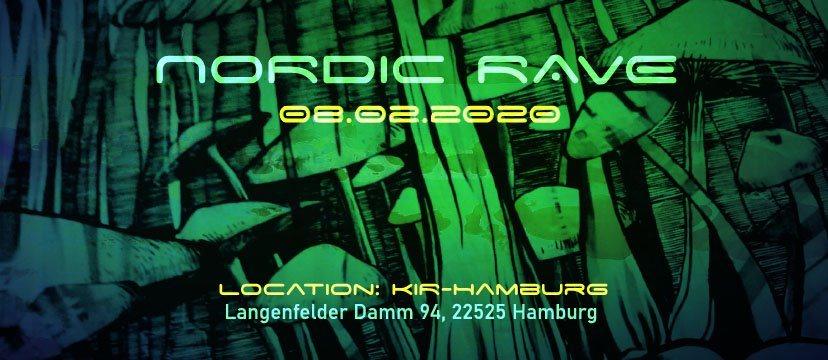 Party Flyer Nordic Rave : First Rave 2020 im KIR Hamburg 8 Feb '20, 22:00