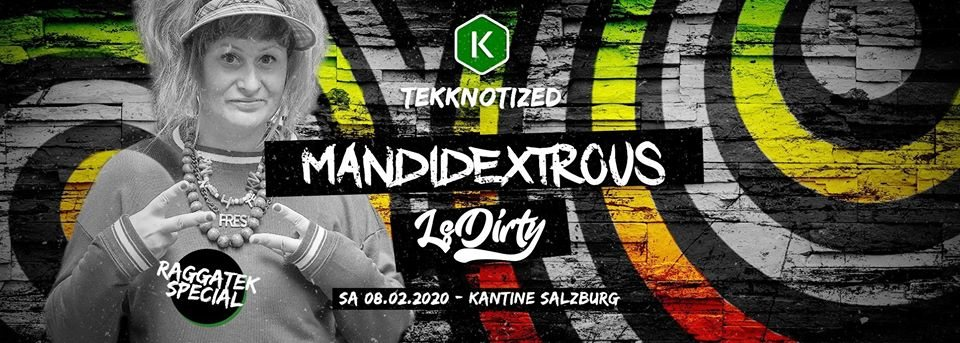 Party Flyer Raggatek Special w/ LS DIRTY + Mandidextrous 8 Feb '20, 22:00