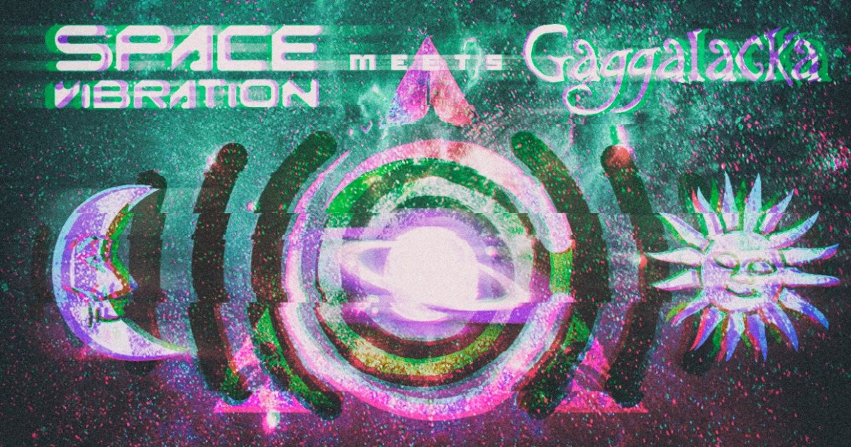 Party Flyer Space Vibration meets Gaggalacka 8 Feb '20, 23:30