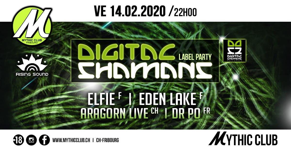 Party Flyer Digital Shamans Label Party 14 Feb '20, 22:00