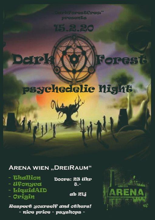 Party Flyer *DarkForest* PsychedelicNight 15 Feb '20, 23:00