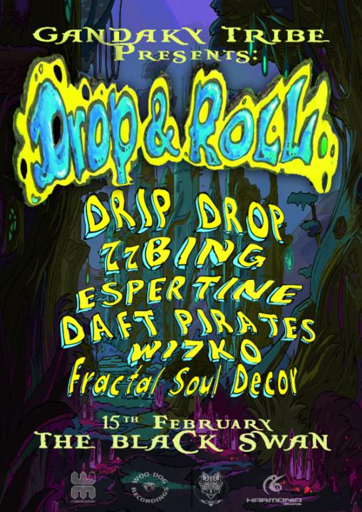 Party Flyer Drop & Roll - Black Swan 15 Feb '20, 22:00