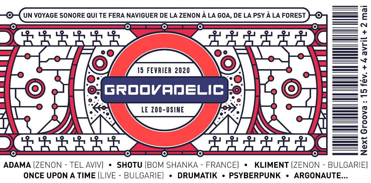 Party Flyer GROOVADELIC 15 Feb '20, 22:00