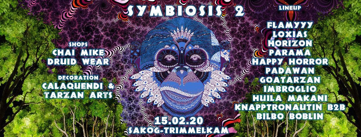 Party Flyer Symbiosis 2 @Sakog by Hyprid Rec. 15 Feb '20, 22:00