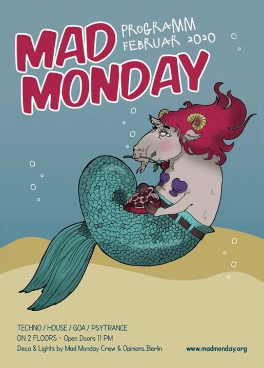 Party Flyer Mad Monday presents Akustik.Akrobaten 17 Feb '20, 23:00