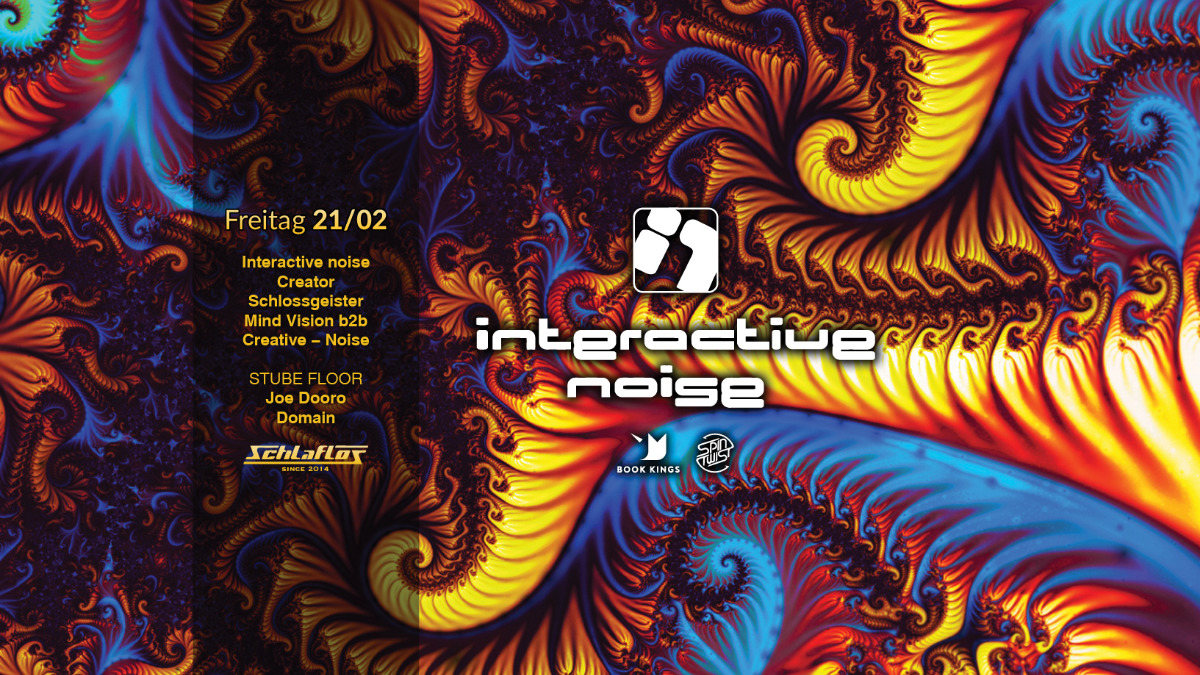 Party Flyer Interactive Noise im Schlaflos 21 Feb '20, 22:00