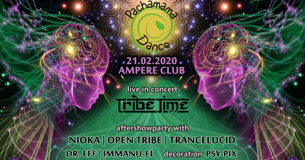 Party Flyer Pachamama Dance /live in concert 21 Feb '20, 21:00