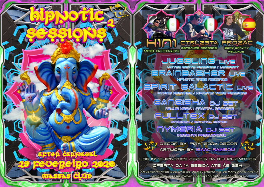 Party Flyer Hipnotic Sessions #2 Label Party 29 Feb '20, 23:30
