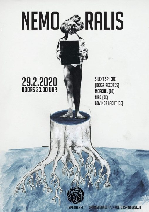 Party Flyer Nemoralis w/ Silent Sphere (Iboga Records) 29 Feb '20, 23:00