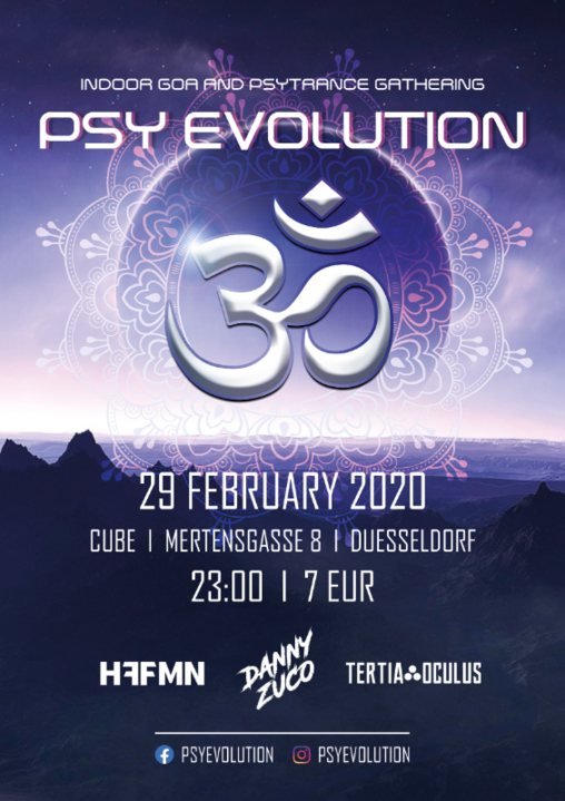 Party Flyer Psy Evolution 29 Feb '20, 23:00