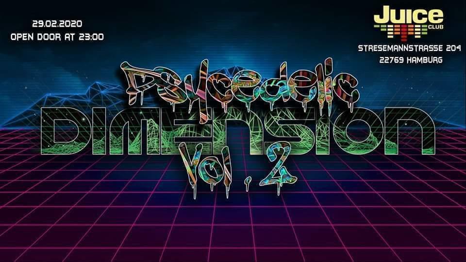 Party Flyer Psycedelic Dimension vol.2 29 Feb '20, 23:00