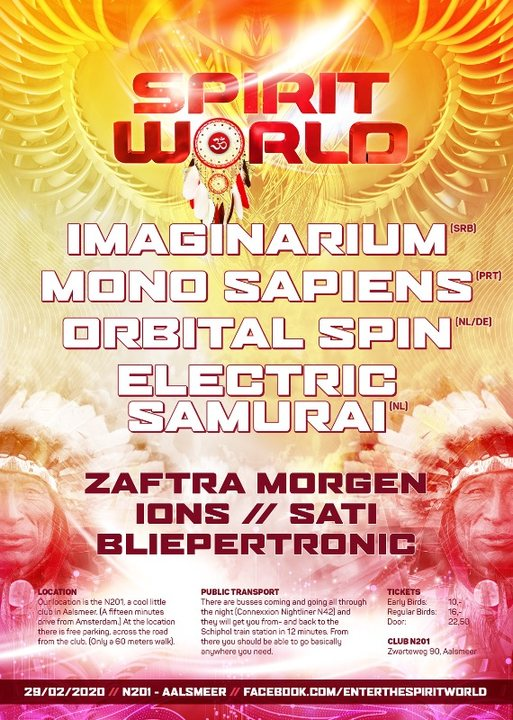 Party Flyer Spirit World - Chapter III 29 Feb '20, 23:00