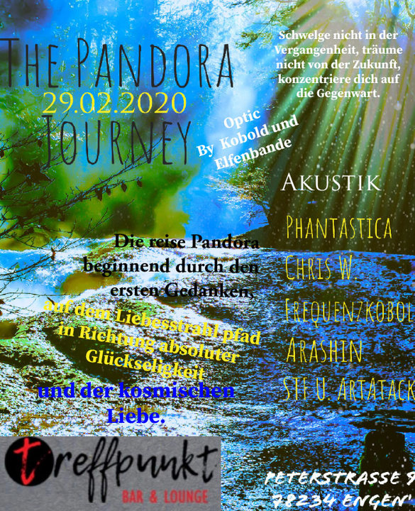 Party Flyer The Pandora 29 Feb '20, 21:00