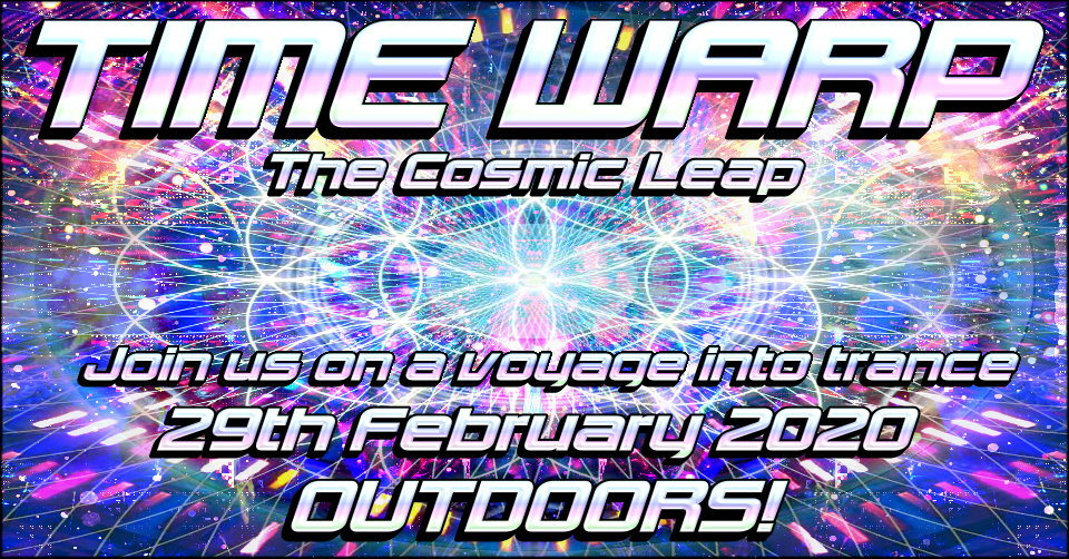 Party Flyer Time Warp - The Cosmic Leap 29 Feb '20, 14:00