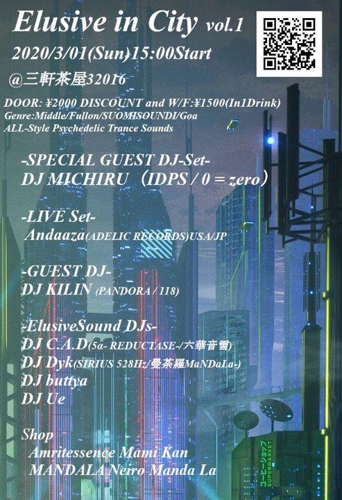 Party Flyer Elusive in City 1 Mar '20, 15:00
