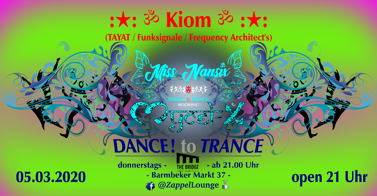 Party Flyer DANCE! to TRANCE 5 Mar '20, 21:00