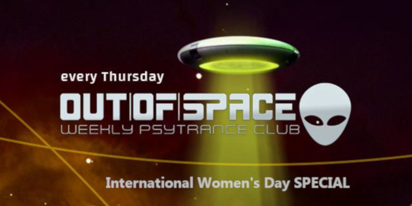 Party Flyer OUT of SPACE Weltfrauentag Special 5 Mar '20, 22:00