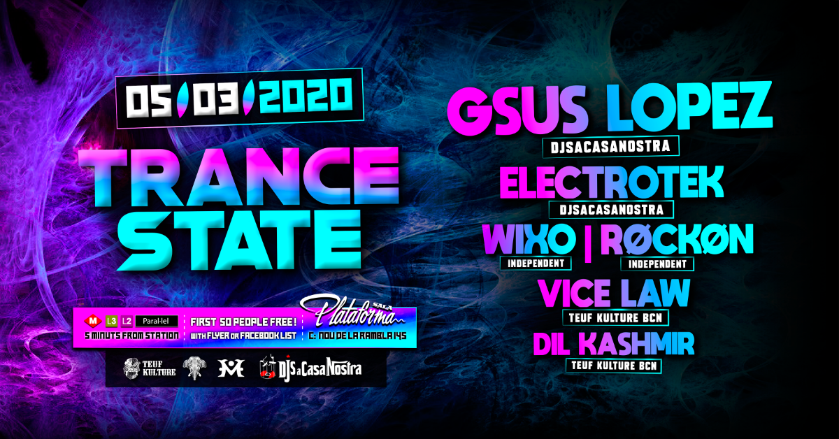 Party Flyer Trance State 5 Mar '20, 00:30