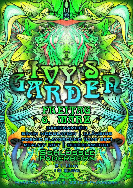 Party Flyer Ivy's Garden (with Daksinamurti_Sangoma Records) 6 Mar '20, 21:00