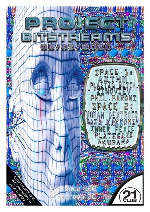 Party Flyer Project Bitstreams 6 Mar '20, 22:00