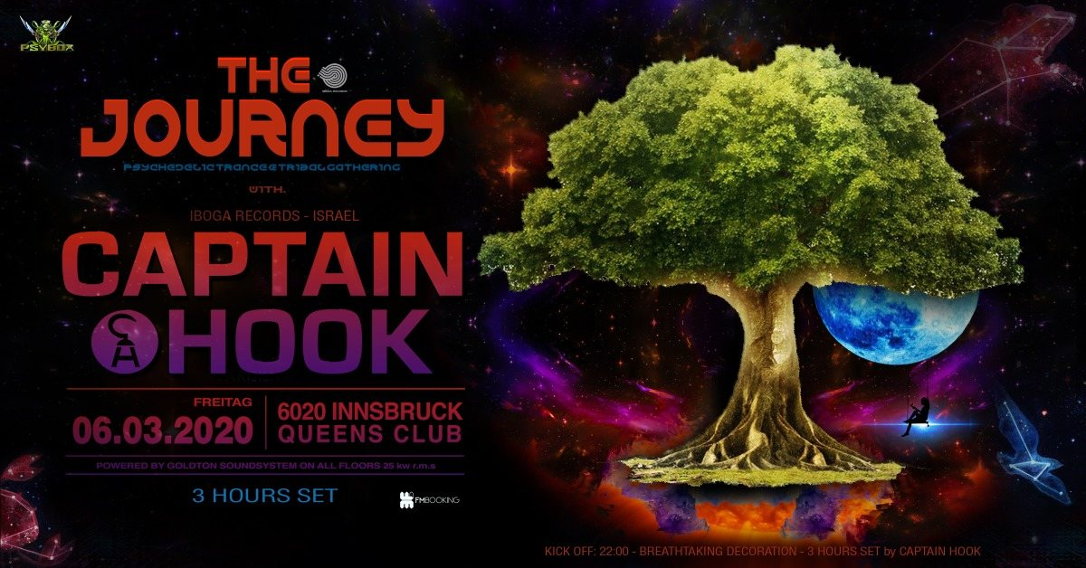 Party Flyer Psybox pres. The Journey with Captain Hook - 3 Hours Set 6 Mar '20, 22:00