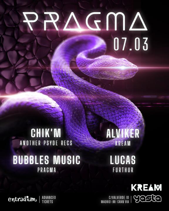 Party Flyer PRAGMA 7 Mar '20, 23:30