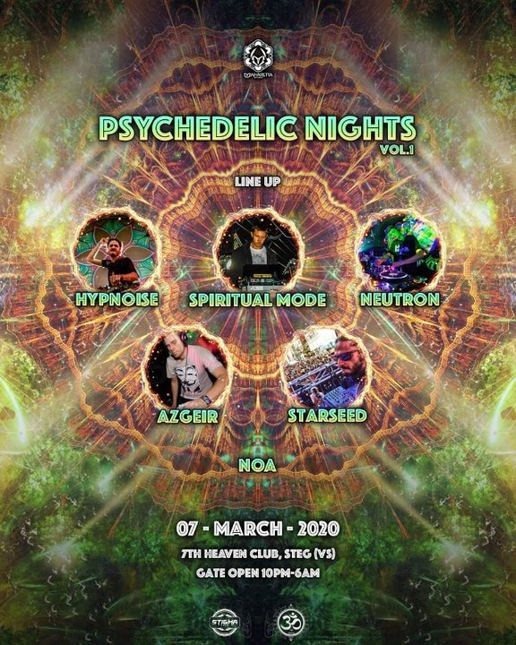 Party Flyer Psychedelic Nights 7 Mar '20, 22:00