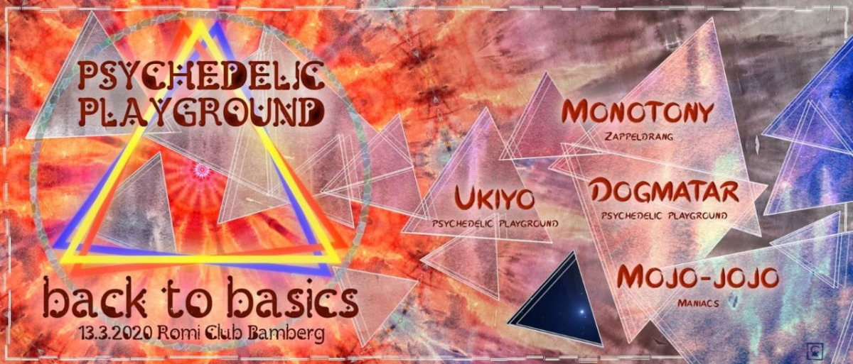 Party Flyer Psychedelic Playground - Back to Basics 13 Mar '20, 22:00