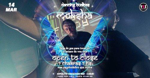 Party Flyer Dancing Budhas features Dj Moksha 7 Chakras 7hs 14 Mar '20, 23:30