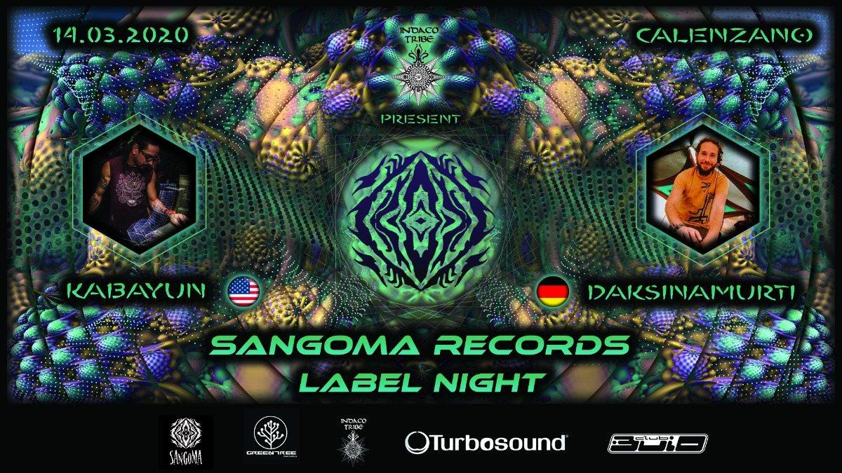 Party Flyer SANGOMA RECORDS Label Party 14 Mar '20, 23:00
