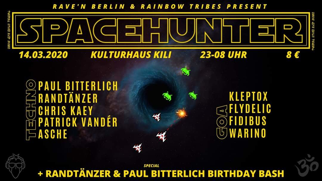 Party Flyer SPACEHUNTER 14 Mar '20, 23:00