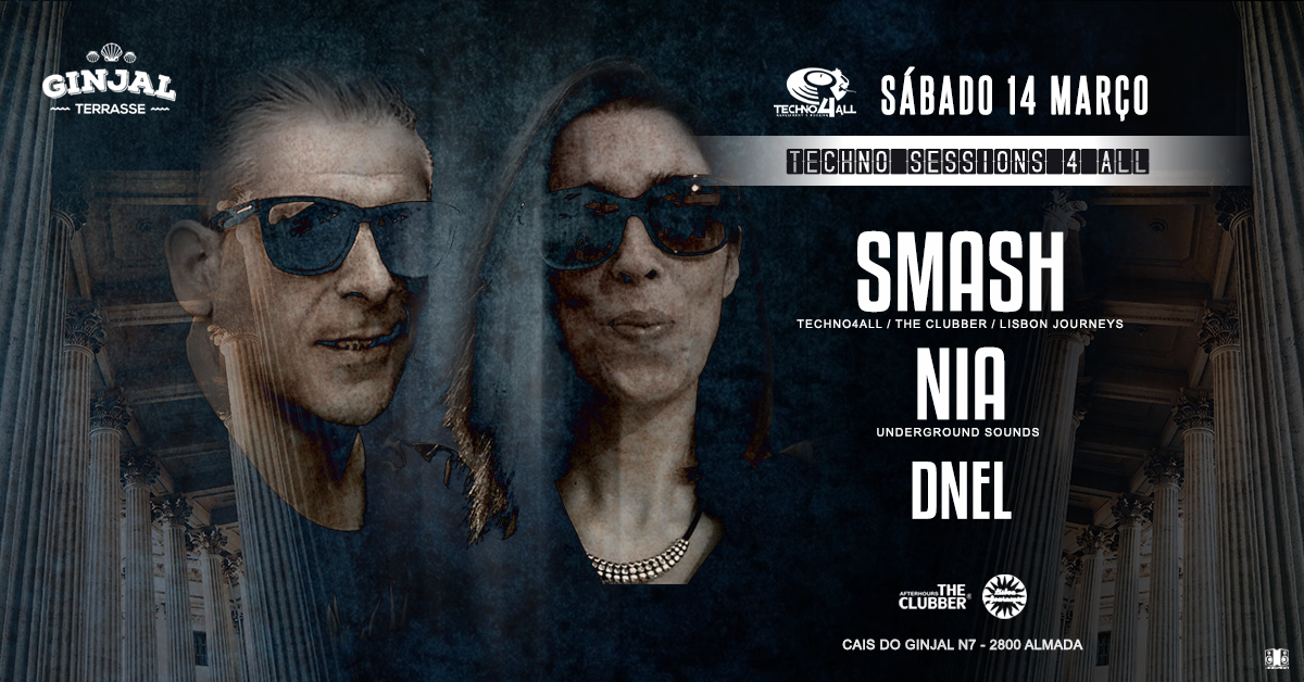 Party Flyer Techno4All - SMASH NIA DNEL - Ginjal Terrasse / Free Party 14 Mar '20, 23:00