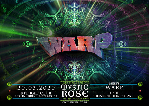 Party Flyer The Mystic Rose meets WARP 20 Mar '20, 23:00