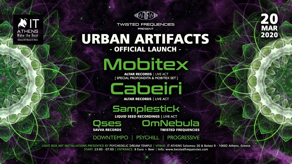 Party Flyer Twisted Frequencies Pres. Urban Artifacts 20 Mar '20, 23:00