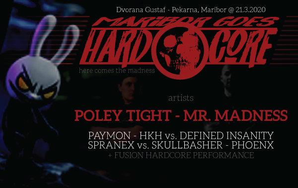 Party Flyer Maribore goes Hardcore 21 Mar '20, 22:00