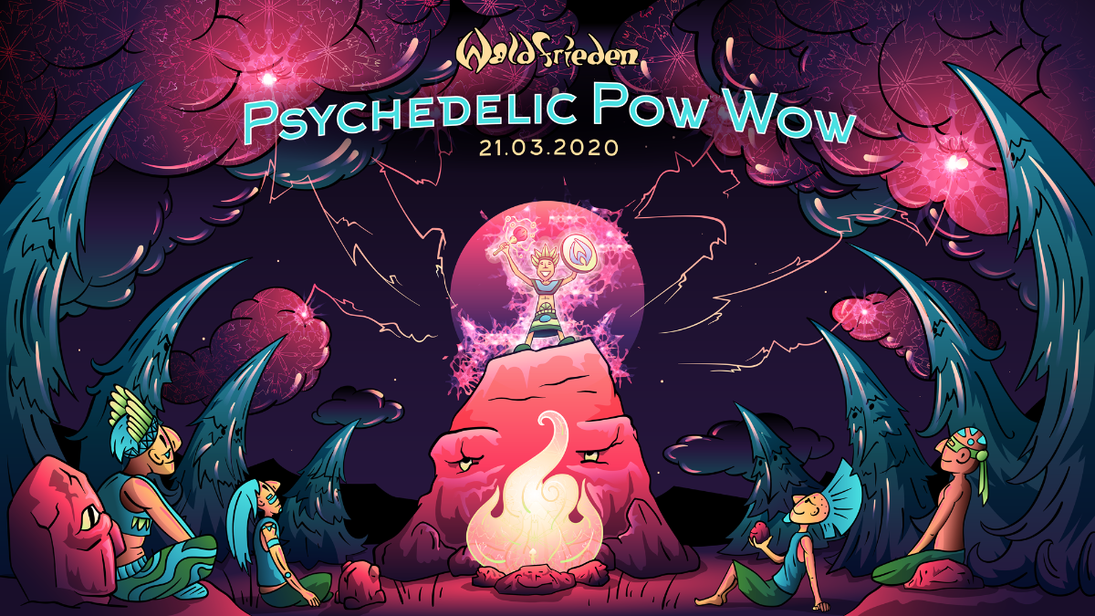 Party Flyer Psychedelic Pow Wow 21 Mar '20, 22:00