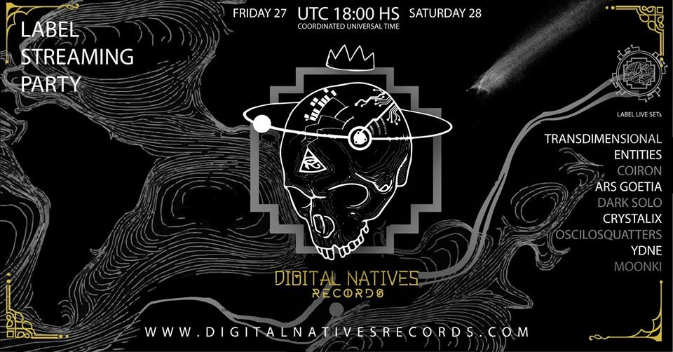 Party Flyer Digital Natives Records Live Streaming Party 27 Mar '20, 18:00