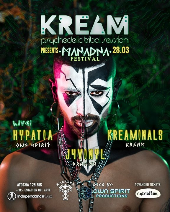 Party Flyer KREAM presents Manadna Festival 28 Mar '20, 23:30