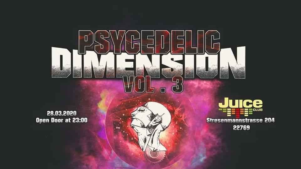 Party Flyer Psycedelic Dimension vol. 3 28 Mar '20, 23:00