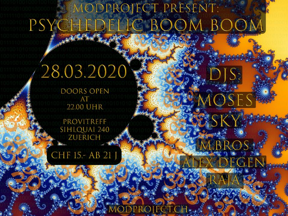 Party Flyer Psychedelic Boom Boom !!Dank covid-19 leider abgesagt!! 28 Mar '20, 22:00