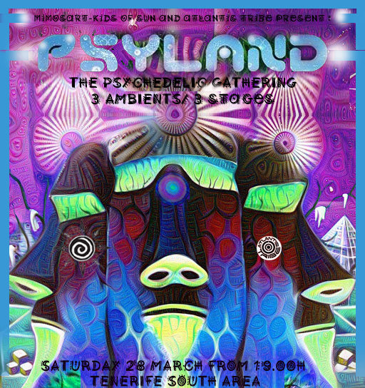 Party Flyer **PSYLAND** - THE PSYCHEDELIC GATHERING TF SOUTH 28 Mar '20, 22:00
