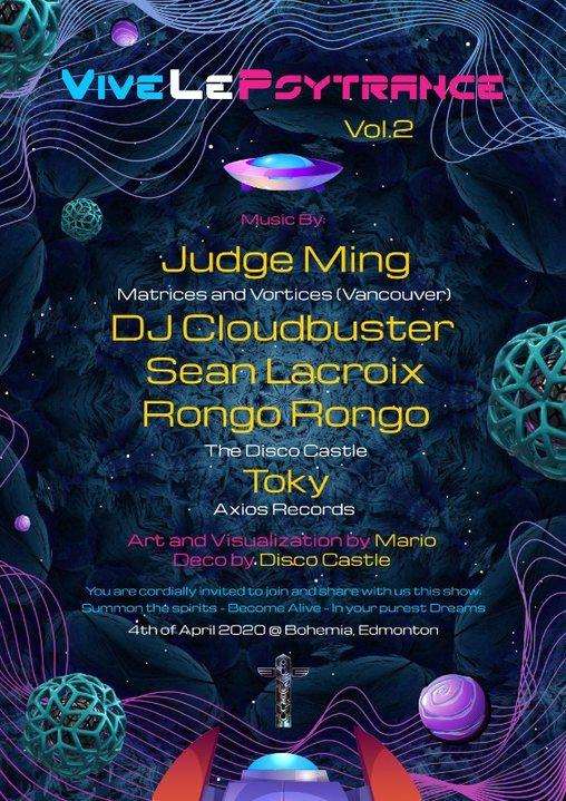Party Flyer Vive Le Psytrance! 4 Apr '20, 21:00