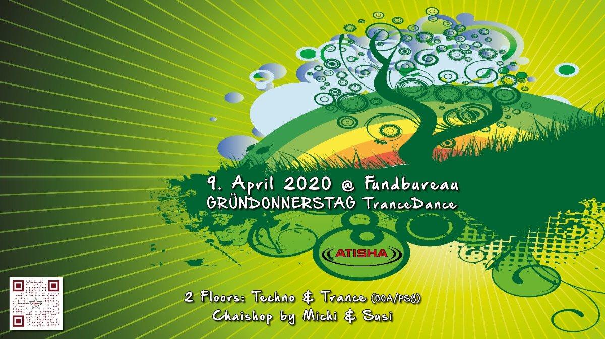 Party Flyer Atisha: Gründonnerstag (TranceDance) 9 Apr '20, 22:00