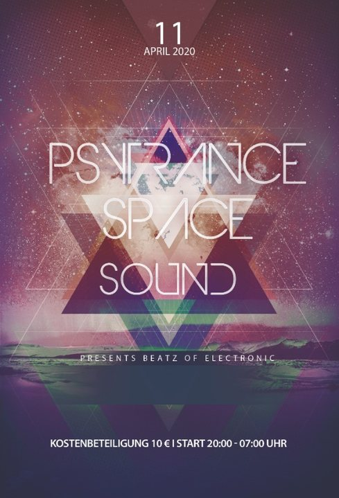 Party Flyer PsyTrance Space Sound 11.04.2020 11 Apr '20, 20:00