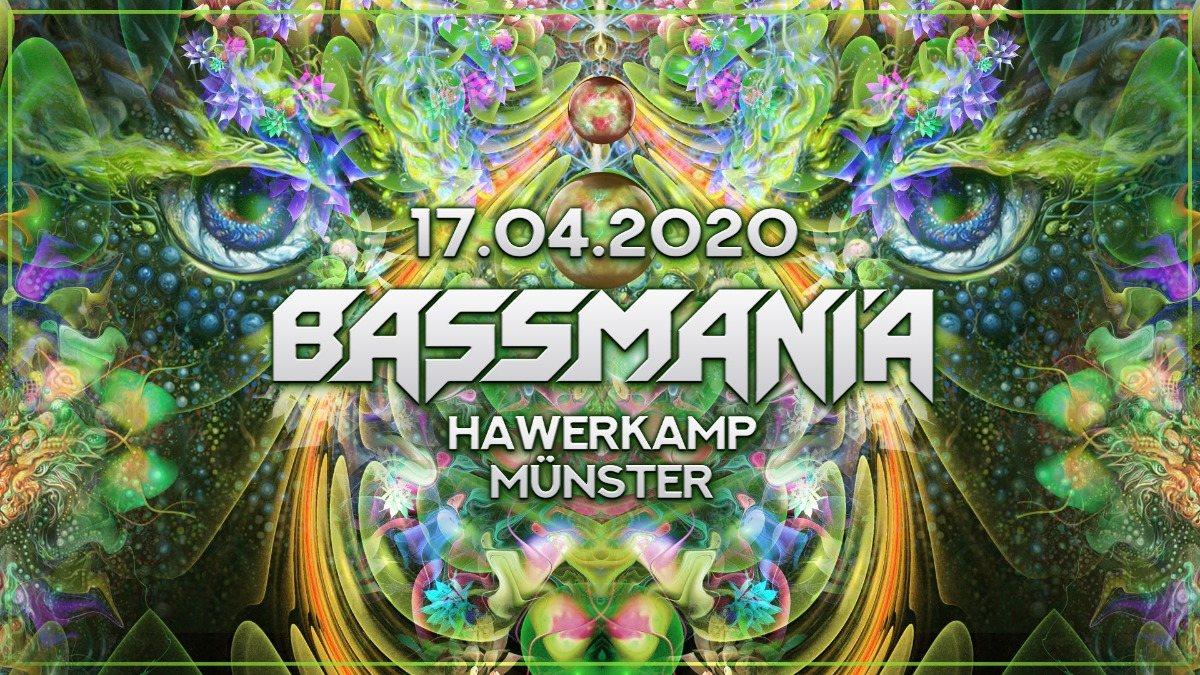 Party Flyer Bassmania 17 Apr '20, 23:00