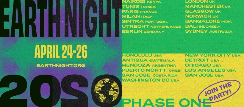 Party Flyer Earth Night - Puerto Montt - Chile 24 Apr '20, 18:00