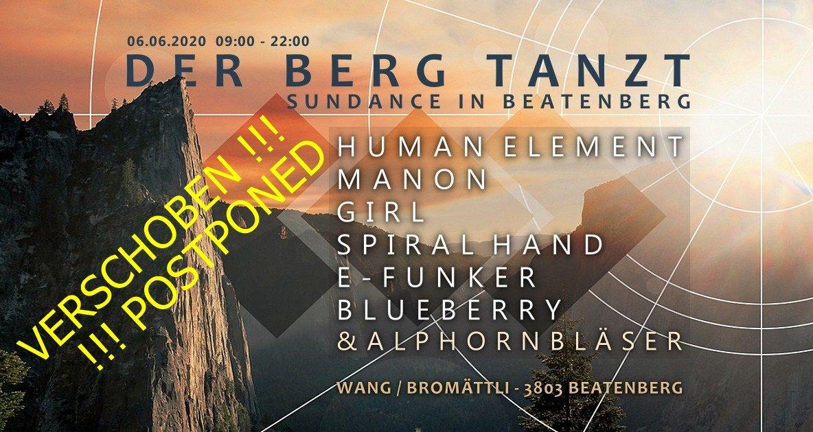 Party Flyer Der Berg tanzt - Sundance in Beatenberg 6 Jun '20, 09:00