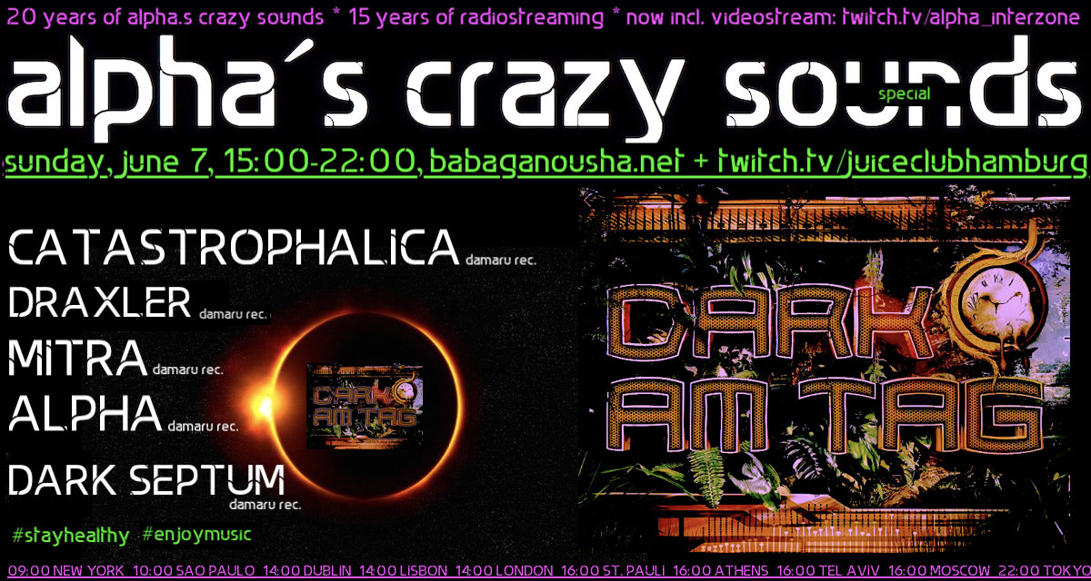 alpha.s crazy sounds special - DarkAmTag 7 Jun '20, 15:00